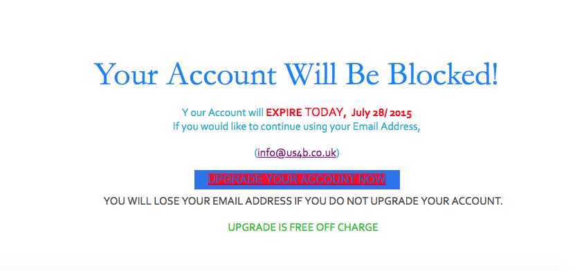 The email content.