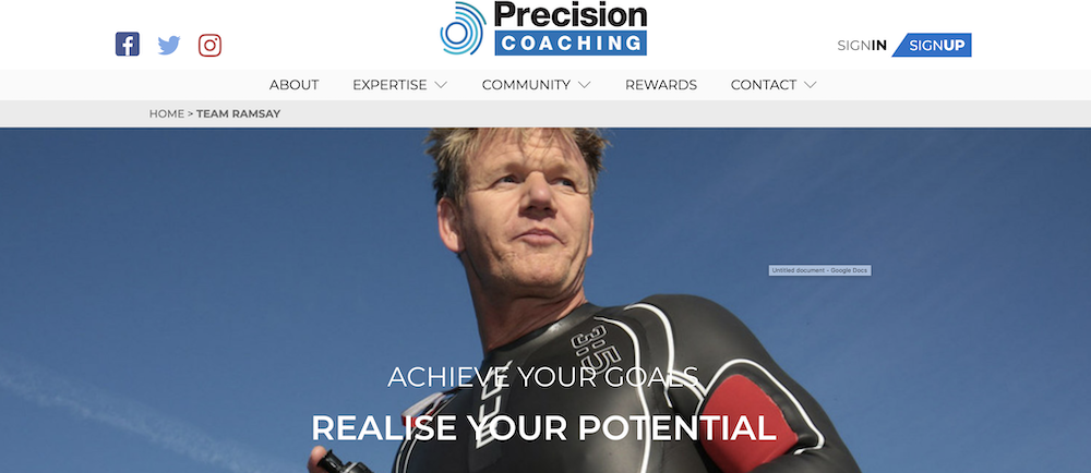 Gordon Ramsey - Great Website Design